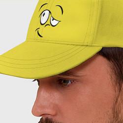 Бейсболка Смайл сомневается цвета желтый — фото 2