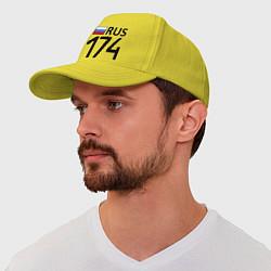 Бейсболка RUS 174 цвета желтый — фото 1