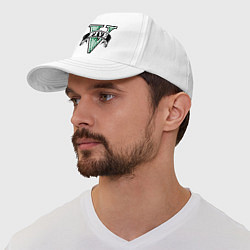 Бейсболка GTA V: Logo цвета белый — фото 1