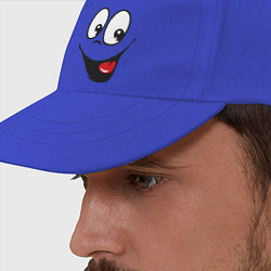 Бейсболка Заразительная улыбка цвета синий — фото 2