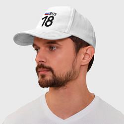 Бейсболка RUS 18 цвета белый — фото 1