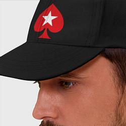 Бейсболка Покер Пики Poker Stars цвета черный — фото 2