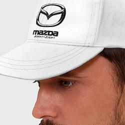 Бейсболка Mazda Zoom-Zoom цвета белый — фото 2