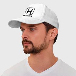 Бейсболка Honda logo цвета белый — фото 1