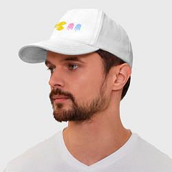 Бейсболка Pac-Man: Fast Eat цвета белый — фото 1