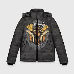 Детская зимняя куртка для мальчика с принтом Камуфляжная обезьяна, цвет: 3D-черный, артикул: 10100551406063 — фото 1