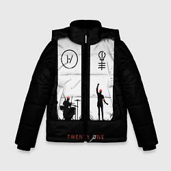 Куртка зимняя для мальчика Twenty One Pilots: Lines цвета 3D-черный — фото 1