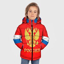 Куртка зимняя для мальчика Сборная РФ: #8 OVECHKIN цвета 3D-черный — фото 2