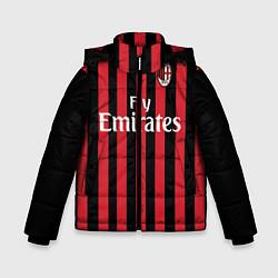 Куртка зимняя для мальчика Milan FC: Fly Emirates цвета 3D-черный — фото 1