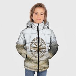 Куртка зимняя для мальчика Компас направлений цвета 3D-черный — фото 2
