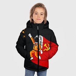 Куртка зимняя для мальчика Советский Гагарин цвета 3D-черный — фото 2