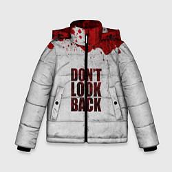 Куртка зимняя для мальчика Don't look back цвета 3D-черный — фото 1