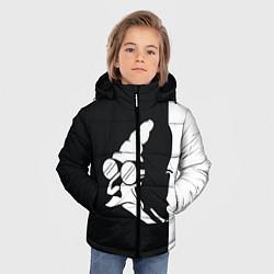 Детская зимняя куртка для мальчика с принтом Grandfather: Black & White, цвет: 3D-черный, артикул: 10109127806063 — фото 2