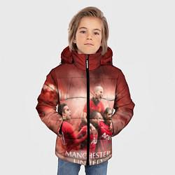 Куртка зимняя для мальчика Manchester United цвета 3D-черный — фото 2