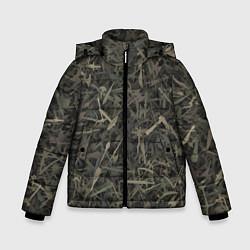 Куртка зимняя для мальчика Камуфляж с холодным оружием цвета 3D-черный — фото 1