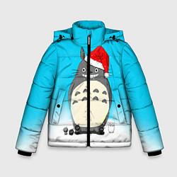 Куртка зимняя для мальчика Тоторо под снегом цвета 3D-черный — фото 1