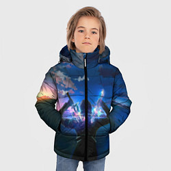 Куртка зимняя для мальчика Мастера меча онлайн цвета 3D-черный — фото 2
