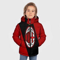 Куртка зимняя для мальчика Milan FC: Red Collection цвета 3D-черный — фото 2