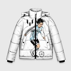 Куртка зимняя для мальчика Messi Young цвета 3D-черный — фото 1