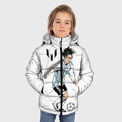 Детская зимняя куртка для мальчика с принтом Messi Young, цвет: 3D-черный, артикул: 10111492706063 — фото 2