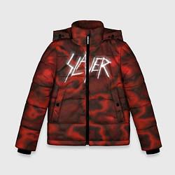 Детская зимняя куртка для мальчика с принтом Slayer Texture, цвет: 3D-черный, артикул: 10112040806063 — фото 1
