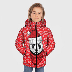 Куртка зимняя для мальчика Панда Клаус цвета 3D-черный — фото 2