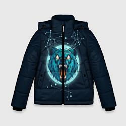 Куртка зимняя для мальчика Космический медведь цвета 3D-черный — фото 1