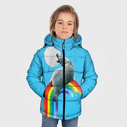 Куртка зимняя для мальчика Полярный мишка цвета 3D-черный — фото 2