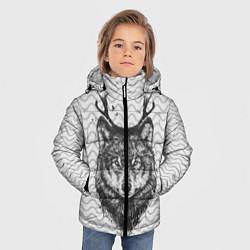 Куртка зимняя для мальчика Рогатый волк цвета 3D-черный — фото 2