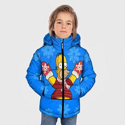 Куртка зимняя для мальчика Новогодний Гомер цвета 3D-черный — фото 2
