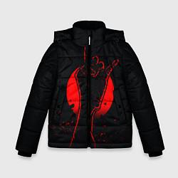 Детская зимняя куртка для мальчика с принтом Zombie Rock, цвет: 3D-черный, артикул: 10114189106063 — фото 1