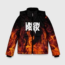 Куртка зимняя для мальчика Linkin Park: Hell Flame цвета 3D-черный — фото 1
