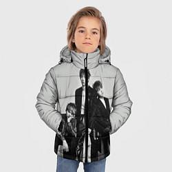 Куртка зимняя для мальчика BTS Grey цвета 3D-черный — фото 2