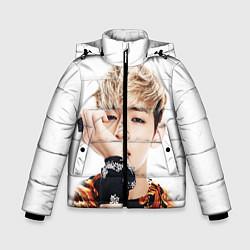 Детская зимняя куртка для мальчика с принтом Kim TaeHyung, цвет: 3D-черный, артикул: 10114634906063 — фото 1