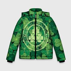Куртка зимняя для мальчика Ireland, Happy St. Patricks Day цвета 3D-черный — фото 1