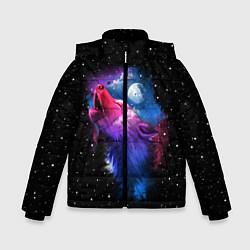 Куртка зимняя для мальчика Воющий волк цвета 3D-черный — фото 1