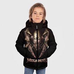 Детская зимняя куртка для мальчика с принтом Megadeth, цвет: 3D-черный, артикул: 10118376206063 — фото 2