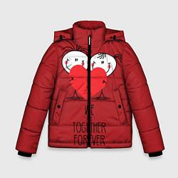 Куртка зимняя для мальчика Мы вместе навсегда цвета 3D-черный — фото 1