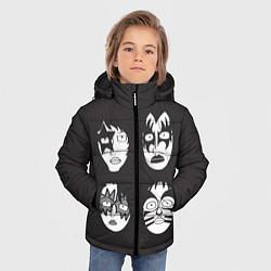 Куртка зимняя для мальчика KISS Mask цвета 3D-черный — фото 2