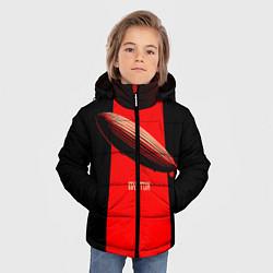 Куртка зимняя для мальчика Led Zeppelin: Red line цвета 3D-черный — фото 2