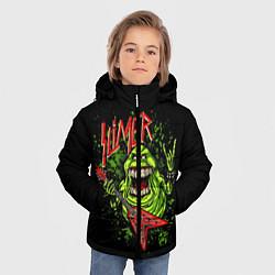 Детская зимняя куртка для мальчика с принтом Slayer Slimer, цвет: 3D-черный, артикул: 10119944306063 — фото 2