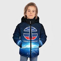 Куртка зимняя для мальчика Космические войска 7 цвета 3D-черный — фото 2