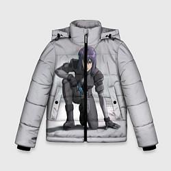 Куртка зимняя для мальчика Ghost In The Shell 5 цвета 3D-черный — фото 1