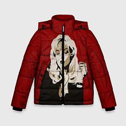 Куртка зимняя для мальчика Лора Палмер цвета 3D-черный — фото 1