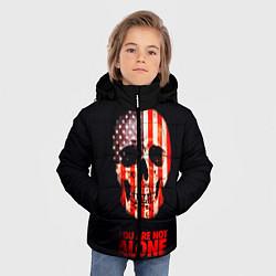 Куртка зимняя для мальчика Ты не одинок! цвета 3D-черный — фото 2
