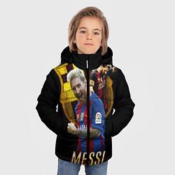 Детская зимняя куртка для мальчика с принтом Messi Star, цвет: 3D-черный, артикул: 10126863506063 — фото 2