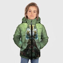 Куртка зимняя для мальчика TES: Heaven Knight цвета 3D-черный — фото 2