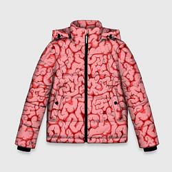 Куртка зимняя для мальчика Мозг цвета 3D-черный — фото 1