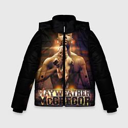 Куртка зимняя для мальчика Mayweather vs McGregor цвета 3D-черный — фото 1