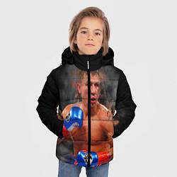 Куртка зимняя для мальчика Геннадий Головкин цвета 3D-черный — фото 2